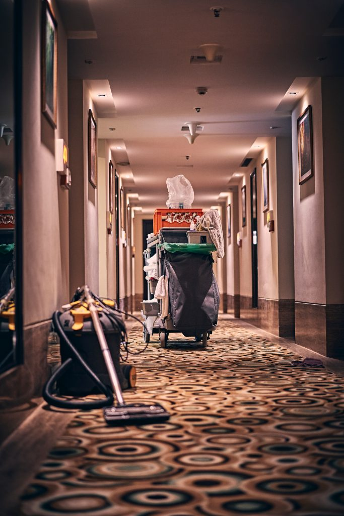 Janitorial services in commercial buildings during COVID-19