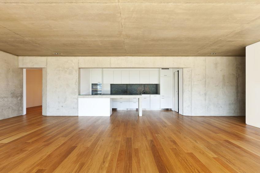 Commercial building hardwood floor cleaning